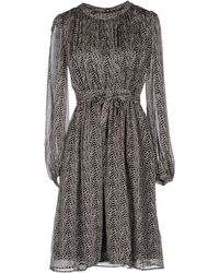 Issa Gray Short Dress - Lyst