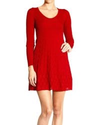 M Missoni Dress Long Sleeve Crew Neck Mesh Jaquard - Lyst