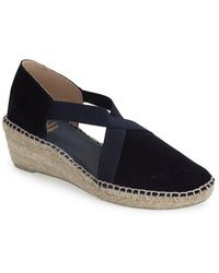Andre Assous 'Conner' Suede Espadrille Wedge Sandal blue - Lyst