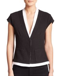 Nanette Lepore Contrast-Trim Jacket black - Lyst
