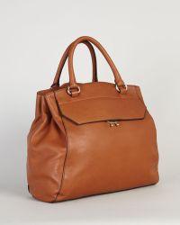Karen Millen Brown Tote Leather - Lyst