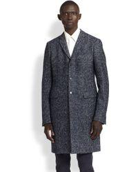 Jil Sander Wool Herringbone Coat - Lyst