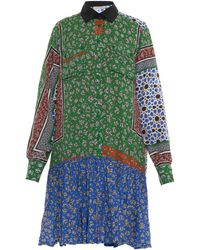 Preen Line Assia Patchwork-Print Shirtdress - Lyst
