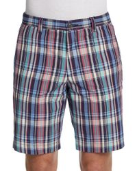 Ben Sherman Plaid Cotton Shorts - Lyst