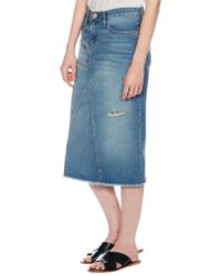 Current/Elliott The Midi Skirt - Lyst