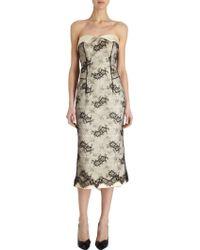 L'Wren Scott Lace Overlay Strapless Dress - Lyst