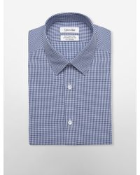 CALVIN KLEIN 205W39NYC - Steel Slim Fit Blue Picnic Plaid Dress Shirt - Lyst