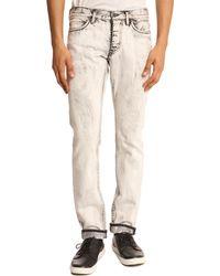 Marc By Marc Jacobs Acid Black Stick Fit Bleached Denim Jeans black - Lyst