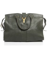 Saint Laurent Preowned Green Cabas Chyc Bag - Lyst