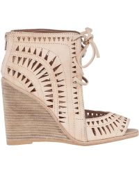 Jeffrey Campbell Rodillo Hi Wedge Bootie Nude Leather beige - Lyst