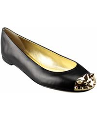 Giuseppe Zanotti Leather Ballet Flat With Studs - Lyst