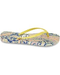 Gandys - Womens Yellow Felix and Isabelle Liberty Print Flip Flops - Lyst
