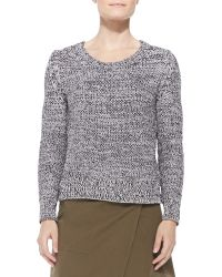 Belstaff Shaker-knit Cotton Sweater - Lyst