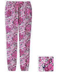 Uniqlo Women Drape Pants Flower - Lyst
