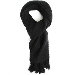 Diesel Kvishal Black Knit Scarf - Lyst