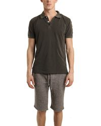 V::room Short Sleeve Pique Polo In Fade Black gray - Lyst