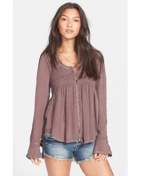 Free People 'Blue Bird' Smocked Tunic - Lyst