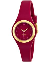 Kate Spade Ladies Rumsey Gold-tone  Crimson Watch - Lyst