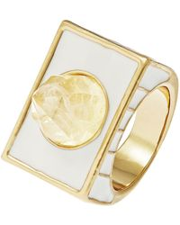 House Of Harlow Textured Glacier Ring - Lyst