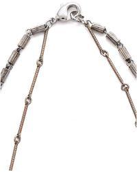 Serefina - Vintage Chain Y Rough Diamond Necklace - Silver - Lyst