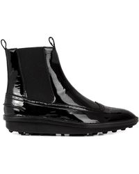 Balenciaga Patent Leather Brogue Ankle Boots - Lyst