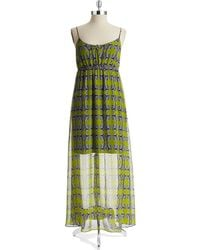 Two By Vince Camuto Tribal Print Maxi Dress - Lyst