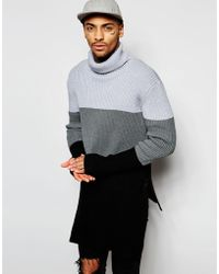 Underated - Super Longline Roll Neck Jumper - Lyst
