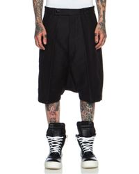 Rick Owens Doeskin Tailored Cotton Podshorts - Lyst
