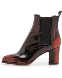 Maison Martin Margiela Tooled Leather Booties  Red - Lyst