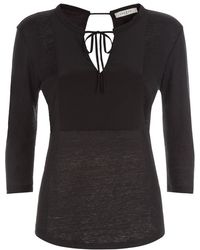 Sandro | Terry Panelled Top | Lyst