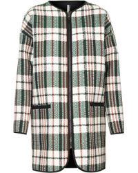 Topshop Textured Check Throw On Coat - Lyst