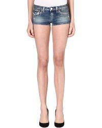True Religion Joey Cut Off Shorts All Day Blue - Lyst