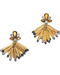 J.Crew Gold Fireburst Earrings - Lyst