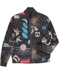 Paul Smith Tribal Print Down-filled Quilted Bomber Jacket - Lyst
