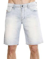 Diesel Jeans Waikee Short Denim Blend Linen blue - Lyst