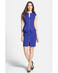 Ted Baker Jamthun Structured Peplum-Waist Dress blue - Lyst