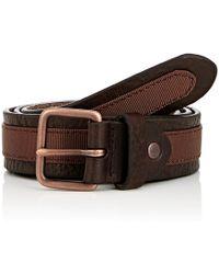 Caputo & Co. - Men's Grosgrain-ribbon-trimmed Leather Belt - Lyst