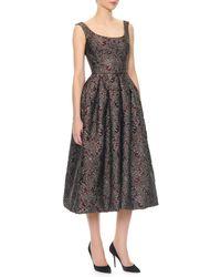 Dolce & Gabbana Scoopneck Full Skirt Tealength Dress - Lyst