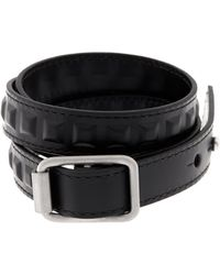 Balenciaga Wraparound Leather Bracelet black - Lyst