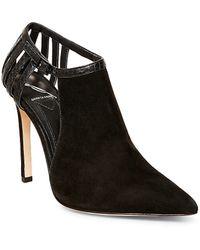 B Brian Atwood | Oria Cutout Suede Booties | Lyst