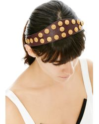 Valentino Gryphon Studded Leather Headband - Lyst