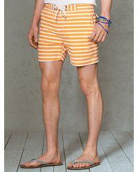 Polo Ralph Lauren Striped Mainship 5 Swim Trunk - Lyst