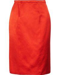 Burberry Prorsum Satin Pencil Skirt - Lyst