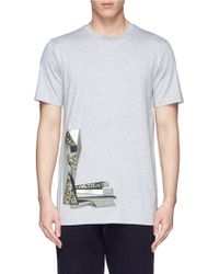 Lanvin Metallic Abstract Print T-Shirt - Lyst