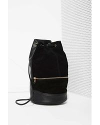 Nasty Gal Already Gone Leather Bucket Backpack - Lyst