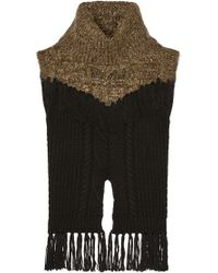 Thakoon - Addition Fringed Cable-knit Wool-blend Sweater - Lyst