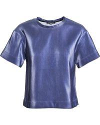 Ostwald Helgason Blue Boxy T-shirt - Lyst