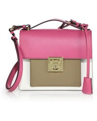 Ferragamo | Marisol Small Multicolor Leather Crossbody Bag | Lyst