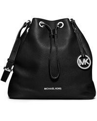Michael by Michael Kors Jules Leather Large Drawstring Shoulder Bag - Lyst