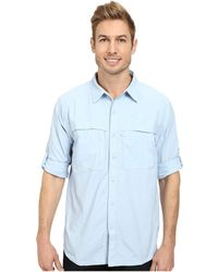 The North Face Long Sleeve Cool Horizon Shirt blue - Lyst